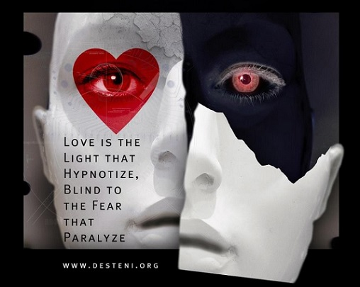 Love is the Light that Hypnotize, Blind to the Fear that Paralyze